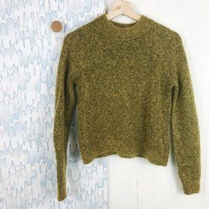 H&M Mock Turtleneck Mohair Long-Sleeved Sweater